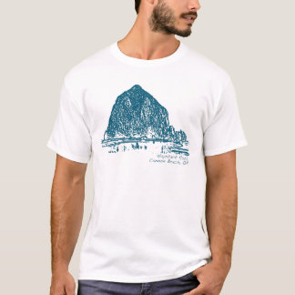 三角波の石のイラストレーション Tシャツ