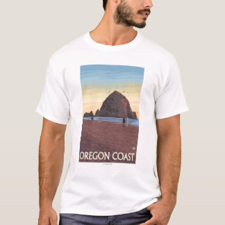 三角波の石のヴィンテージ旅行ポスター Tシャツ