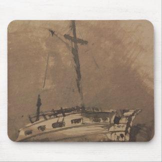 三角波の立つ海の船、1864年 マウスパッド