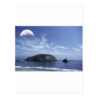 三角波上の月 ポストカード