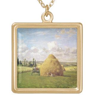 三角波、Pontoise 1873年 ゴールドプレートネックレス