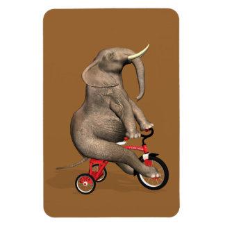 三輪車に乗っているかわいい象 マグネット