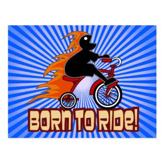 三輪車のデザインに乗るために生まれて下さい ポストカード