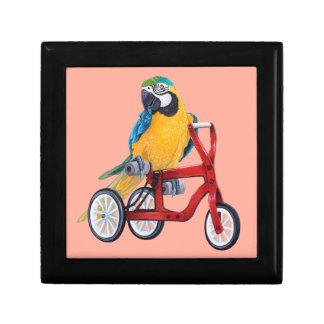 三輪車のバイクのオウムのコンゴウインコ ギフトボックス