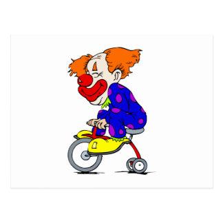三輪車のピエロ ポストカード