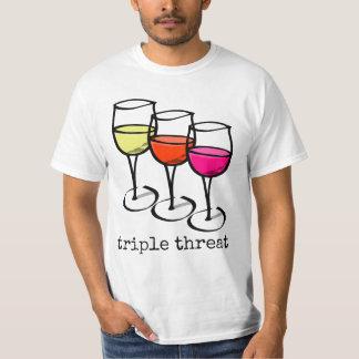 三重の脅威のワイングラス Tシャツ