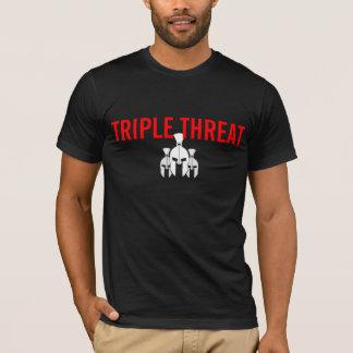 三重の脅威のTシャツ Tシャツ