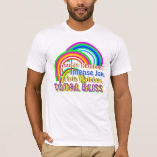 三重の虹の合計の至福 Tシャツ
