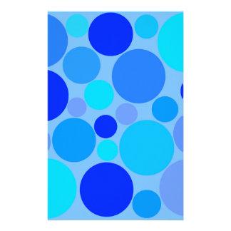 三重の青い水玉模様 便箋