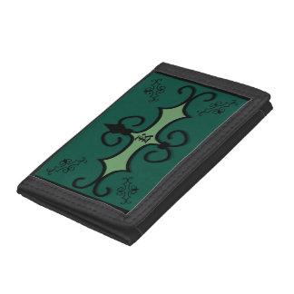 三重ナイロン財布のIRONWORK SCROLLWORK 3