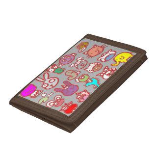 三重ナイロン財布: 十代の若者たちの漫画