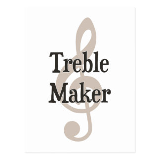三重メーカーのクレフ、音符記号の音楽的なトラブル・メーカー ポストカード