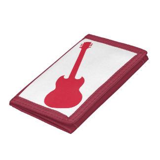 三重札入れの赤いギター