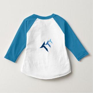 三重Tの青い幼児の真実のRaglan Tシャツ