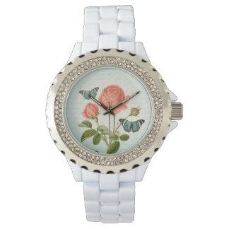 上がりましたり及び蝶花のヴィンテージエレガントな腕時計は 腕時計