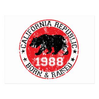 上がるカリフォルニア共和国の生まれる1988年 ポストカード