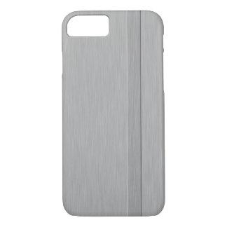 上げられたストライプが付いているのどによってブラシをかけられる金属 iPhone 8/7ケース