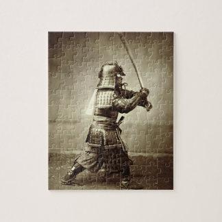 上げられた剣、c.1860 (卵白のプリント)を持つ武士 ジグソーパズル