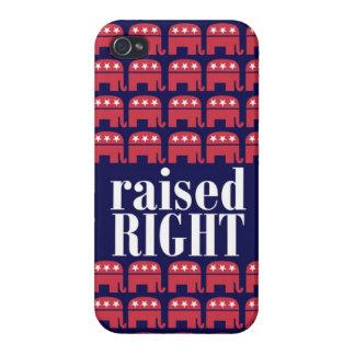 上げられた右の共和党象の例 iPhone 4/4S カバー