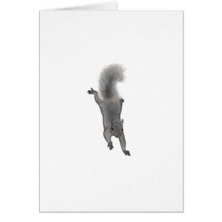 上っている柔らかいデジタルによって描かれる灰色のリス カード