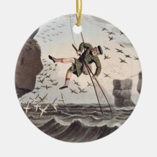 上でからつかまえている鳥Matthew Dubo著刻まれて セラミックオーナメント