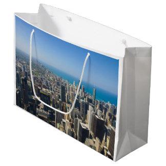 上でからのシカゴ ラージペーパーバッグ