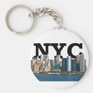 """上で空の""""NYC""""のニューヨークのスカイライン キーホルダー"""