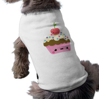 上のさくらんぼが付いているかわいいのカップケーキ ペット服