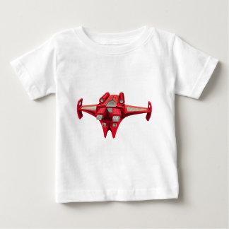 上のエンジンを搭載する赤い宇宙船 ベビーTシャツ