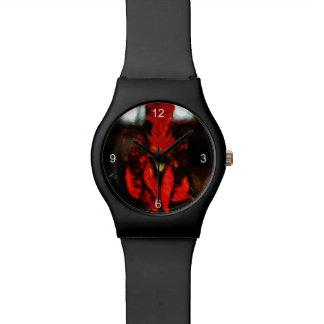 上のオンドリの抽象芸術 腕時計