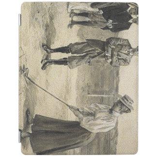 上のゴルフ女の子 iPadスマートカバー