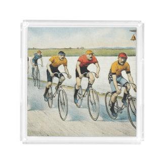 上のサイクリングの古い学校 アクリルトレー