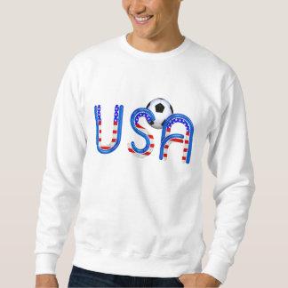 上のサッカー米国 スウェットシャツ