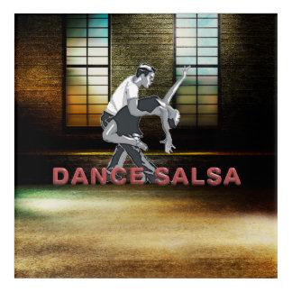 上のサルサのダンス アクリルウォールアート