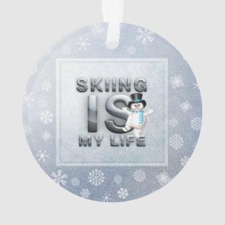 上のスキーは私の生命です オーナメント