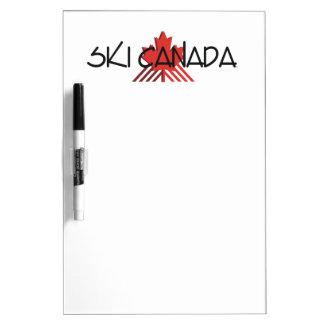 上のスキーカナダ ホワイトボード