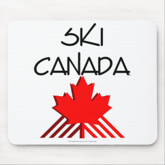 上のスキーカナダ マウスパッド
