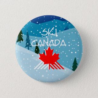 上のスキーカナダ 5.7CM 丸型バッジ