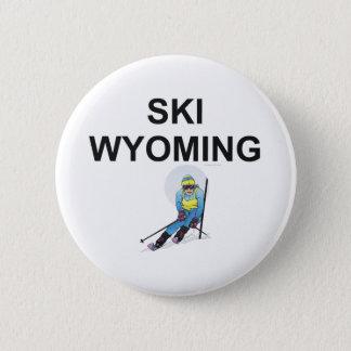 上のスキーワイオミング 缶バッジ