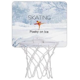 上のスケートで滑るの詩歌 ミニバスケットボールゴール