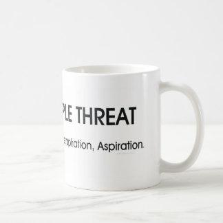 上のソフトボールの三倍の脅威 コーヒーマグカップ