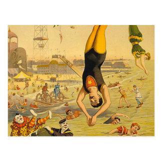 上のダイビングのスローガン ポストカード