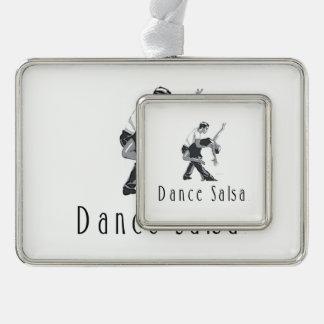 上のダンスのサルサ シルバープレートフレームオーナメント