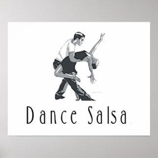 上のダンスのサルサ ポスター
