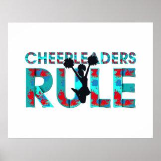上のチアリーダーの規則 ポスター