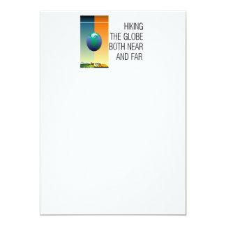 上のハイキング地球 カード