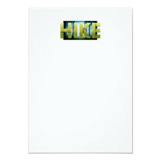 上のハイキング カード