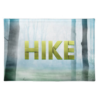 上のハイキング ランチョンマット