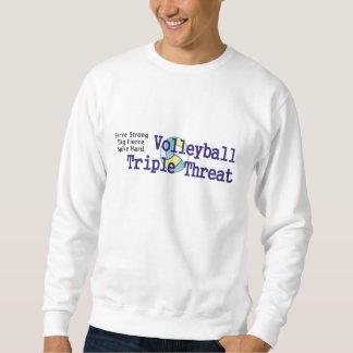 上のバレーボールの三倍の脅威 スウェットシャツ