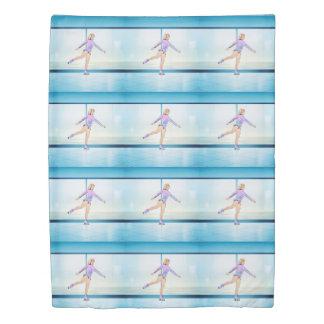 上のフィギュアスケートの女の子 掛け布団カバー